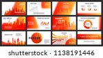 red  business backgrounds of... | Shutterstock .eps vector #1138191446