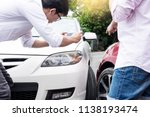 male driver take pictures of... | Shutterstock . vector #1138193474