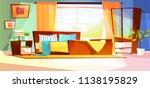 bedroom interior vector... | Shutterstock .eps vector #1138195829