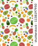 pattern from different types of ... | Shutterstock .eps vector #1138197950