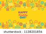 happy friendship day greeting... | Shutterstock .eps vector #1138201856