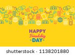 happy friendship day holiday... | Shutterstock .eps vector #1138201880