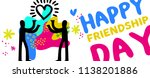 happy friendship day web banner ... | Shutterstock .eps vector #1138201886