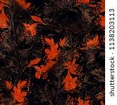 imprints blooming chestnut  ... | Shutterstock . vector #1138203113