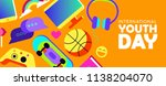 international youth day web... | Shutterstock .eps vector #1138204070