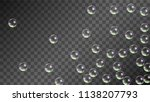 soap bubbles with rainbow... | Shutterstock .eps vector #1138207793
