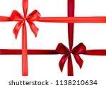 red ribbons set   Shutterstock .eps vector #1138210634