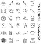 thin line vector icon set   pan ... | Shutterstock .eps vector #1138211789