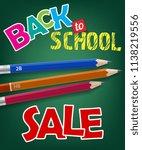 back to school  sale lettering... | Shutterstock .eps vector #1138219556