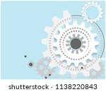 abstract techno background with ... | Shutterstock .eps vector #1138220843