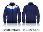 jacket design sportswear track... | Shutterstock .eps vector #1138225373
