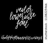 hand drawn dry brush lettering. ...   Shutterstock .eps vector #1138225466
