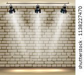 spotlights realistic brick... | Shutterstock .eps vector #1138227470