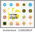 pattern icon set. hexagon... | Shutterstock .eps vector #1138228019
