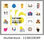 people icon set. family showing ... | Shutterstock .eps vector #1138228289
