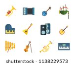 listening to music icon set....   Shutterstock .eps vector #1138229573