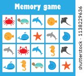 memory game with pictures ... | Shutterstock .eps vector #1138229636