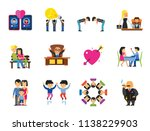 human relations icon set.... | Shutterstock .eps vector #1138229903