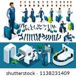 isometric set 4 create your...   Shutterstock .eps vector #1138231409
