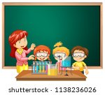 students in the science class... | Shutterstock .eps vector #1138236026