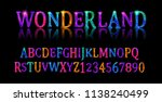 wonderland font. fairy abc. set ... | Shutterstock .eps vector #1138240499