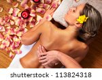 Young Woman In Spa Massage...