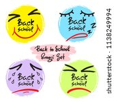 back to school   funny emoji... | Shutterstock .eps vector #1138249994