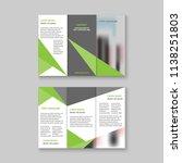 tri fold business brochure...   Shutterstock .eps vector #1138251803