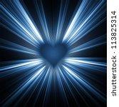 heart shape on glowing... | Shutterstock . vector #113825314