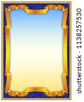 colorful vintage frame border... | Shutterstock .eps vector #1138257530