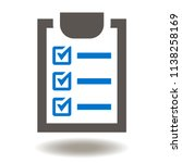 check list with checkmark icon. ... | Shutterstock .eps vector #1138258169