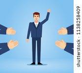 businessman getting praised ...   Shutterstock .eps vector #1138258409