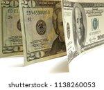 money dollars on a white... | Shutterstock . vector #1138260053
