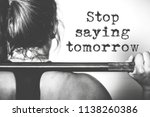 fitness motivation quotes | Shutterstock . vector #1138260386