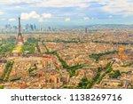 tour eiffel and national... | Shutterstock . vector #1138269716