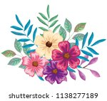 beautiful flowers and leafs... | Shutterstock .eps vector #1138277189