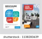 machine gun brochure flyer... | Shutterstock .eps vector #1138283639