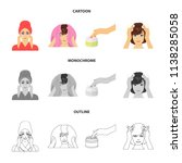 cosmetic  salon  hygiene  and...   Shutterstock .eps vector #1138285058