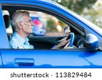������, ������: Retired elder man driving