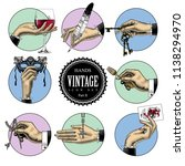 set of round icons in vintage... | Shutterstock .eps vector #1138294970