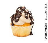 Cupcake With Chocolate Syrup...