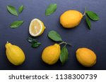 background with lemons on the... | Shutterstock . vector #1138300739