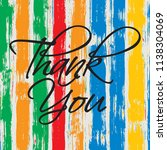 thank you vector card with...   Shutterstock .eps vector #1138304069