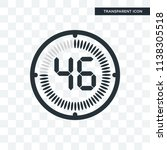 the 46 minutes vector icon... | Shutterstock .eps vector #1138305518
