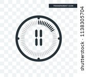the 11 minutes vector icon... | Shutterstock .eps vector #1138305704