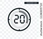 the 20 minutes vector icon... | Shutterstock .eps vector #1138305710