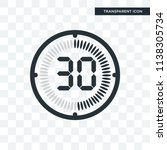 the 30 minutes vector icon... | Shutterstock .eps vector #1138305734