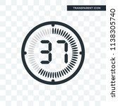 the 37 minutes vector icon... | Shutterstock .eps vector #1138305740