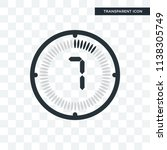 the 7 minutes vector icon... | Shutterstock .eps vector #1138305749