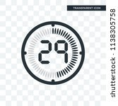 the 29 minutes vector icon... | Shutterstock .eps vector #1138305758